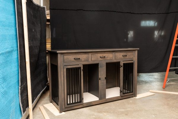 double pet cabinet with drawers