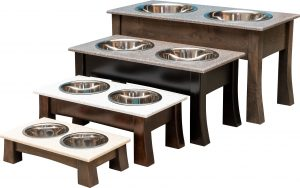springville pet food and water dish double bowl
