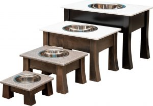 pet food and water dish with single bowl
